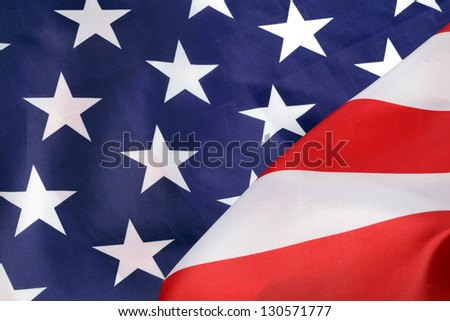 Part of USA flag, close-up