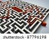 pass through the maze - stock photo