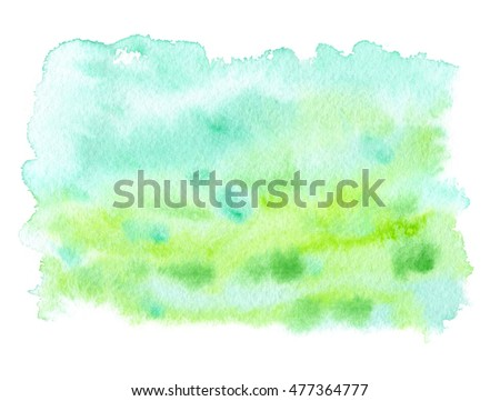 Watercolor illustration sky cloud artistic natural stock for Pastel teal paint