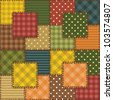 patchwork background with different patterns - stock photo