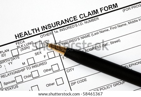 Medical Claim Form Patient Medical History Stock Photo 57080824