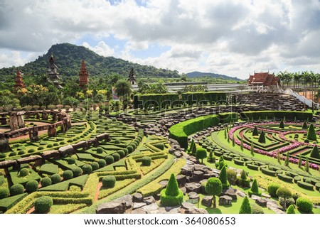 pattayathailand january 18 the pavillions and tropical garden are located in nong - Tropical Garden 2016