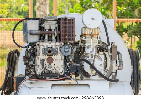 PATTAYA,THAILAND - JULY,15 : The Details of Old machine in factory at PATTAYA city ,Thailand on July 15,  2015