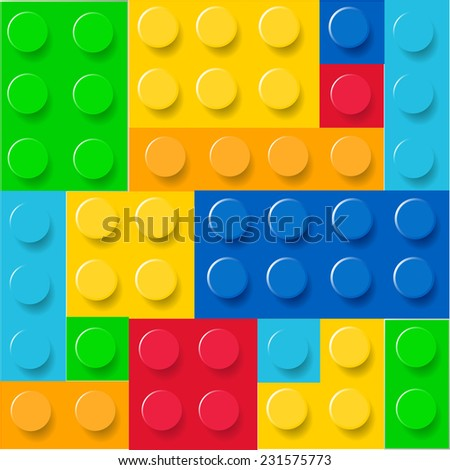 Pattern of colorful lego blocks