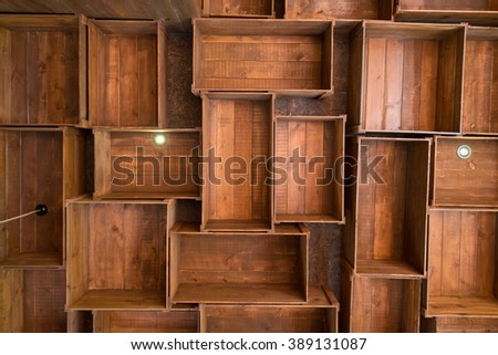 Pattern of old wood box background