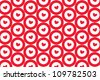 pattern of red target sign with heart in center - stock photo
