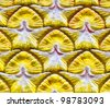 Pattern on a wall in a Thai temple - stock photo