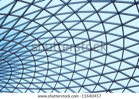 Patterned Blue Glass Ceiling