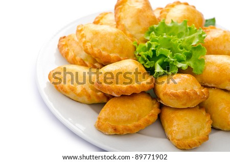 Patties stuffed with meat in the plate