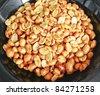 peanut knead salted on black Bowl thailand - stock photo