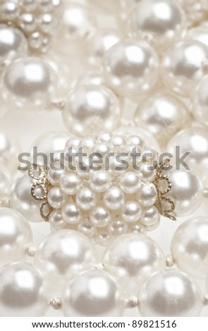 Pearl necklace fragment
