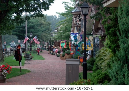peddlers village halloween fair bucks county stock photo