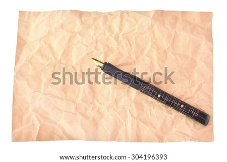 Pen and paper isolated