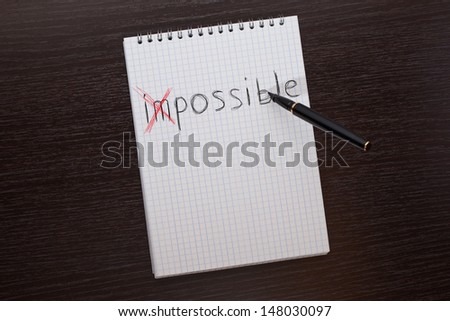 "pen writes ""impossible"""