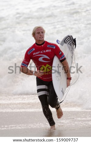 PENICHE, PORTUGAL - OCTOBER 17 : Nat Young (USA) during the Rip Curl Pro Portugal, October 17, 2013 in Peniche, Portugal