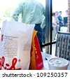 PENSACOLA, FL - AUGUST 1: Patrons line up at Chick-Fil-A restaurant in Pensacola, FL, on August 1, 2012 on national Day of Support following backlash from the owner supporting traditional marriage. - stock photo