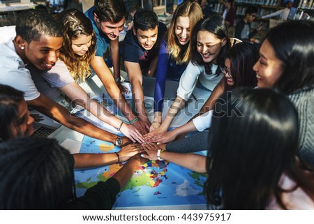 People Friendship Brainstorming Hand Clasped Teamwork Concept