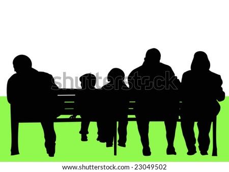 people sitting on park bench
