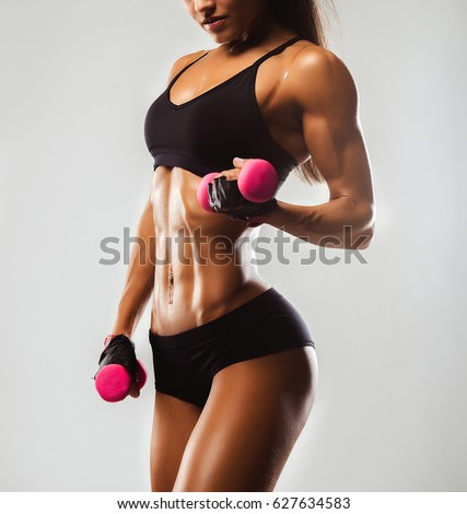 girl with fitness body