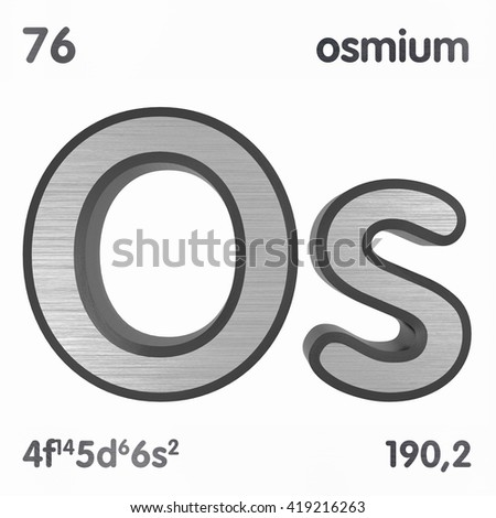 Periodic table elements oxygen 3d title stock illustration periodic table of elements osmium 3d title isolated on white 3d rendering urtaz Images
