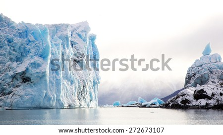 Perito Moreno Glacier in Patagonia, Argentina during winter