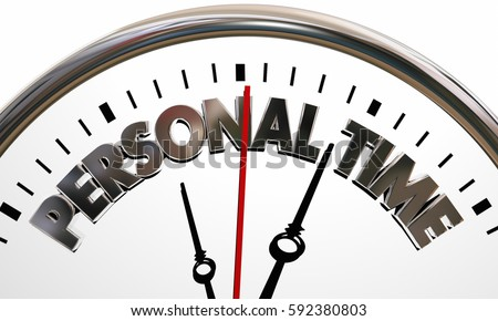 personal clock vacation 3d clip illustration break request paid leave relax holiday extra overtime hours clipart pto words drop working