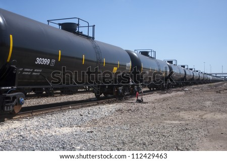 Perspective on railroad train fuel tankers