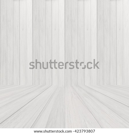 perspective white wood floor panel background