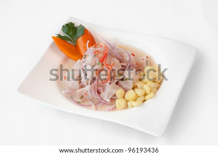 Peruvian cuisine cebiche stock photo for Art of peruvian cuisine