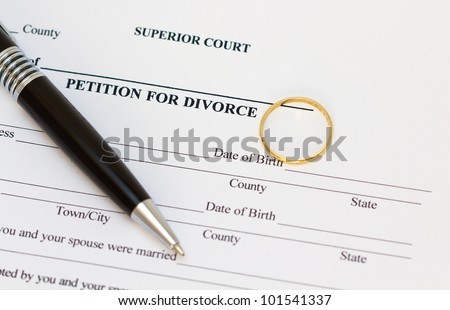 Petition for divorce paper
