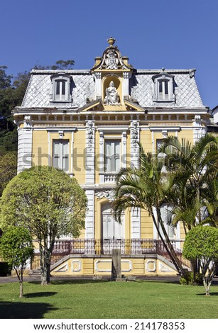 PETROPOLIS, RIO DE JANEIRO - BRAZIL - August 6, 2014 Mansion built in the nineteenth century - public historical and cultural corridor of the Imperial City of Petropolis