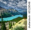 Peyto lake in Banff, Alberta, Canada, UNESCO - stock photo