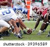PHILADELPHIA, PA. - SEPTEMBER 26 : Buffalo Offensive Line to hike the football against Temple on September 26, 2009 in Philadelphia, PA. - stock photo