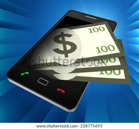 Phone Dollars Showing World Wide Web And United States