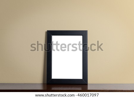 Photo frame on creamy background