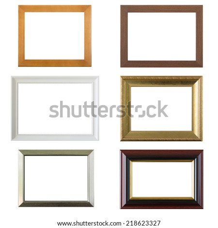 Photo frame set isolated on white