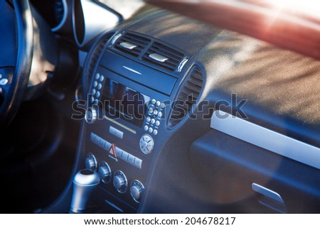 Photo of dashboard of car