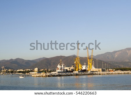 photo of marina di carrara harbour in italy