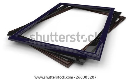 Photo / picture frames isolated on white