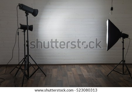 photo studio in wooden room