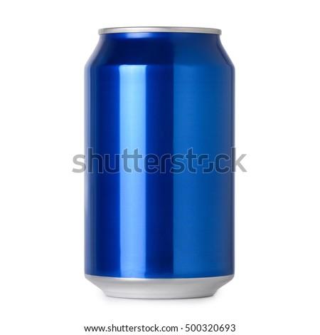 blank blue soda can - photo #8