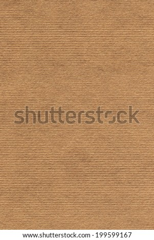 Photograph of old recycle, striped kraft Ochre Brown paper, coarse grain, grunge texture sample