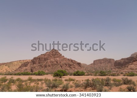 Photograph of rock formations at Talampaya National Park in Argentina.