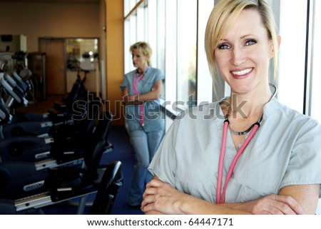Physical Therapy blond nurses