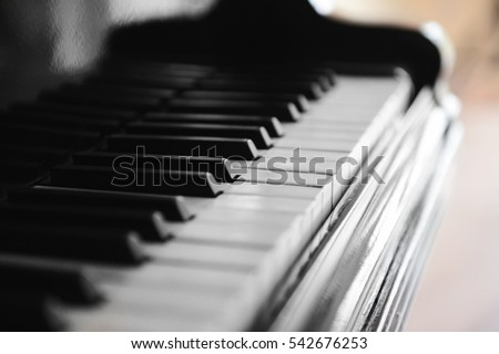 Piano keys, closeup