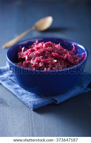 pickled red cabbage in bowl