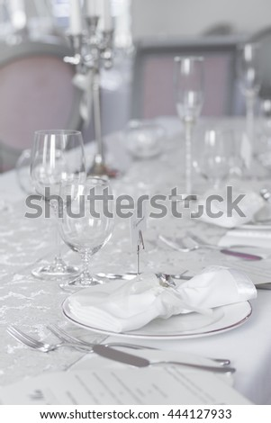 Picture of event party tables set