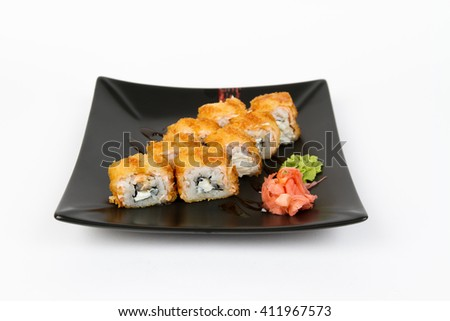 Picture of hot maki with salmon