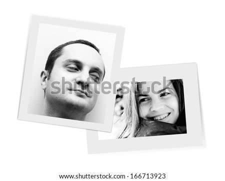 Pictures smiling one to each other