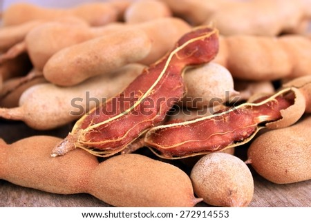 Pictures sweet tamarind is food and herb from Thailand